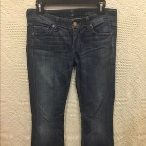 7 For All Mankind Womens Flynt Flared Size 26 X 32